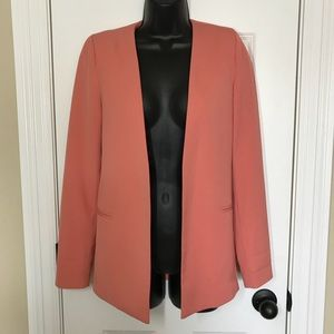 Peach Long Blazer By Bar III